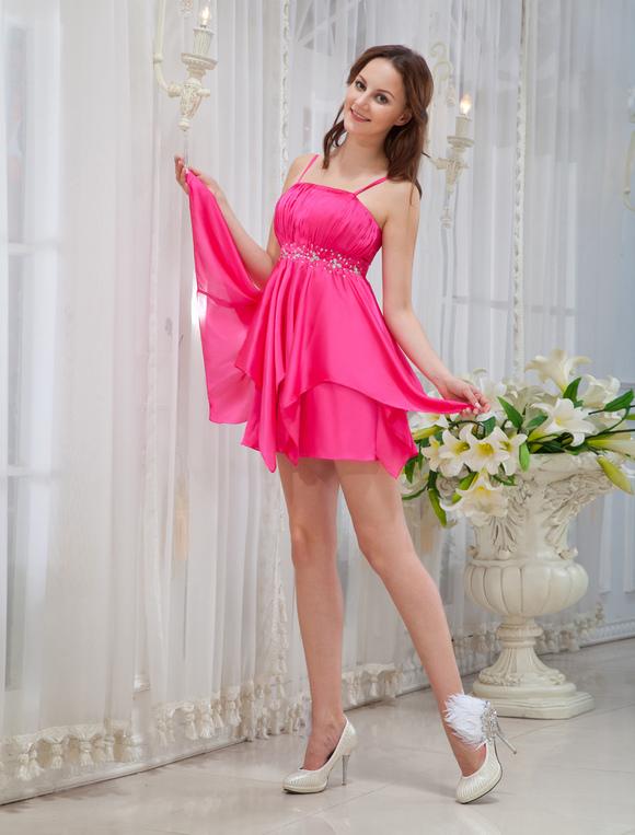 Vestidos de color fucsia cortos
