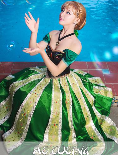 Costume de anna vert du film la reine des neiges - La reine des neige anna ...