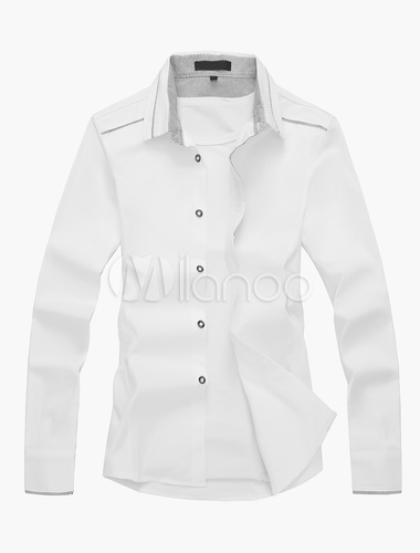 Button up long sleeve shirt in solid color for Solid color button up shirts