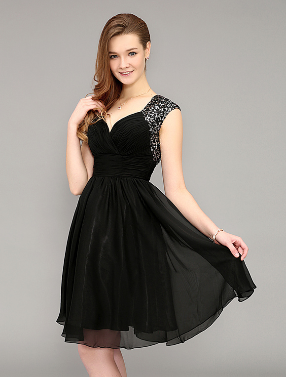 robe de soiree noire pailletee la mode des robes de france. Black Bedroom Furniture Sets. Home Design Ideas
