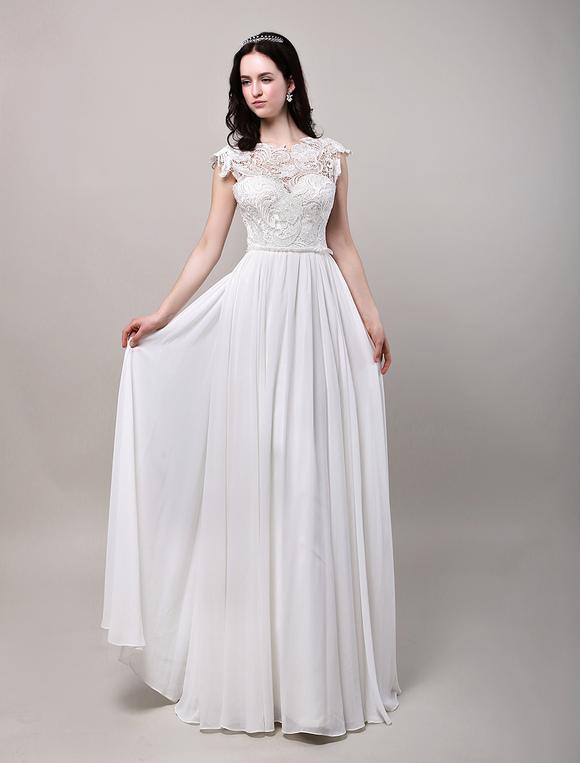 vestidos de novia con encaje transparente