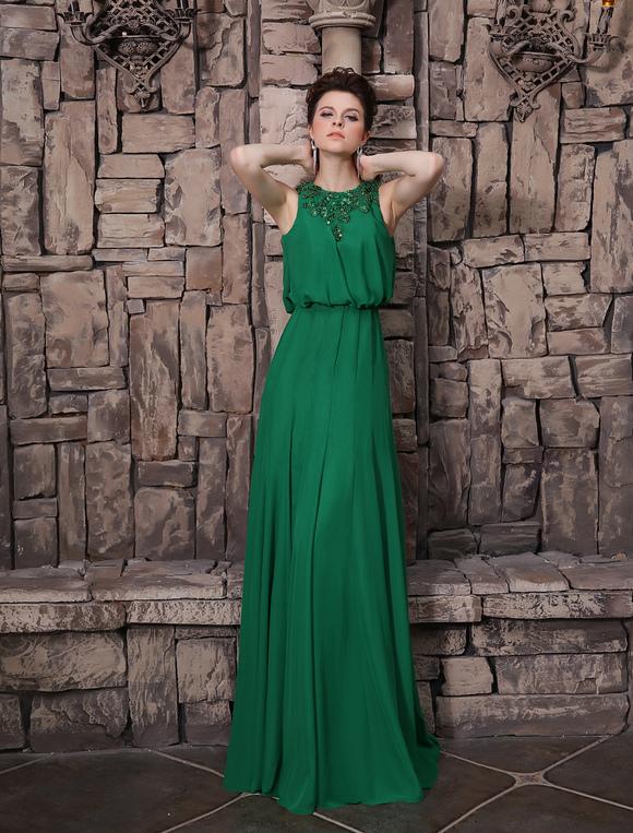 Abendkleid mit pailletten in dunkelgr n milanoo - Milanoo abendkleider ...