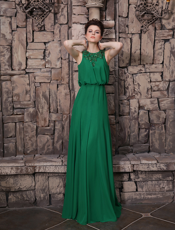 Abendkleid mit pailletten in dunkelgr n milanoo for Milanoo abendkleider