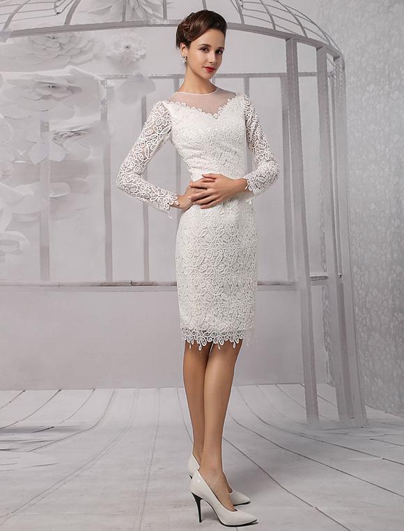 Knee Length Sheath Wedding Dresses