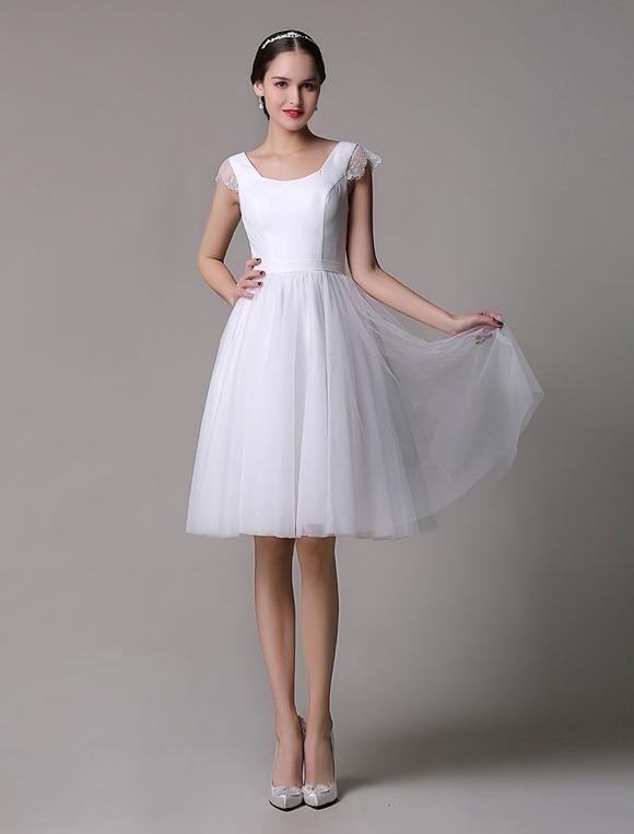 robe de mari e a ligne ivoire dentelle cou original