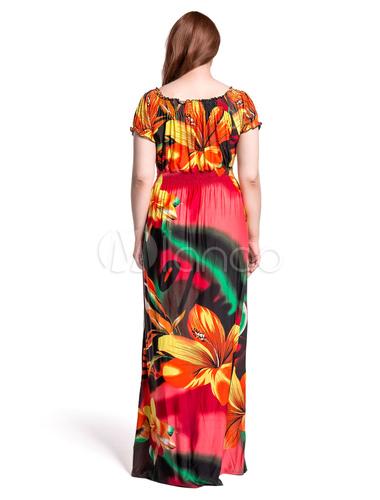 robe longue rouge kimono et robe boho maxi taille. Black Bedroom Furniture Sets. Home Design Ideas