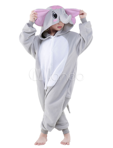 Kigurumi pajama elephant onesie childrens flannel animal onesie sleepwear costume - Pyjama elephant ...