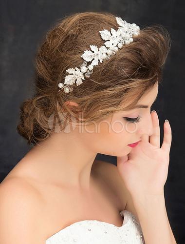 perles bandeau strass argent alliage cheveux mari e accessoires de mariage. Black Bedroom Furniture Sets. Home Design Ideas