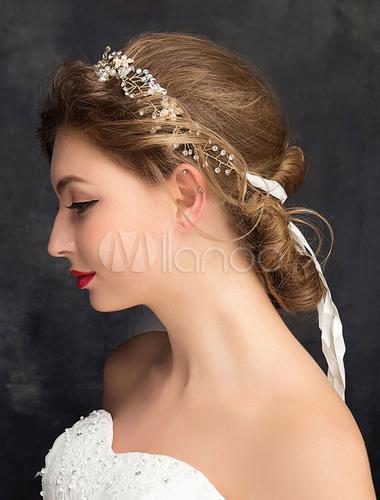 hochzeit haar stirnband silber nachahmungen von perlen strass legierung braut haar accessoires. Black Bedroom Furniture Sets. Home Design Ideas