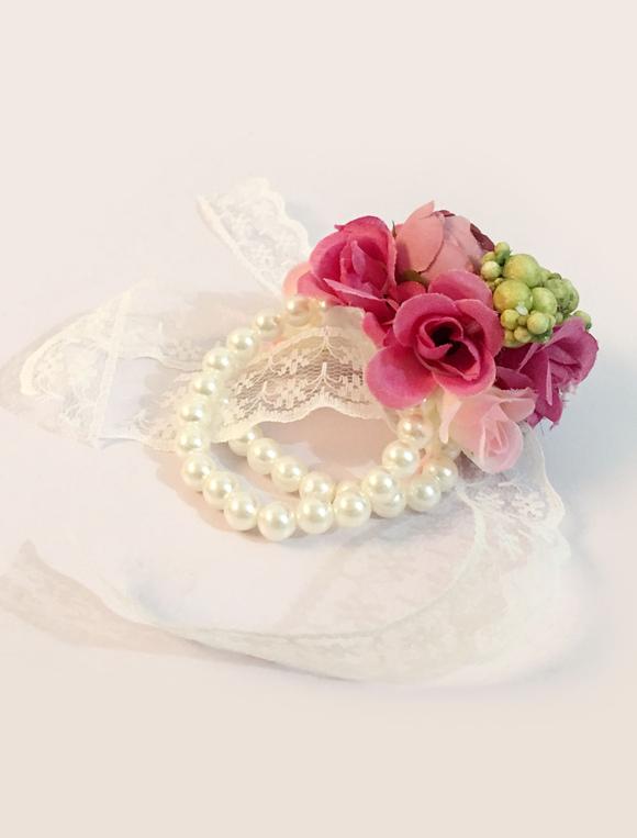 prom corsage fleur mariage perles perles fleurs en soie dentelle ruban demoiselle d honneur. Black Bedroom Furniture Sets. Home Design Ideas