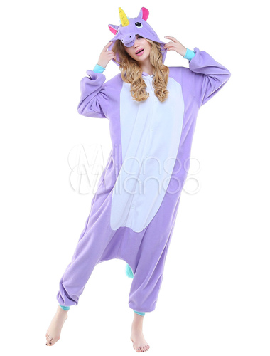 combinaison pyjama licorne violet textile polaire kigurumi adulte. Black Bedroom Furniture Sets. Home Design Ideas