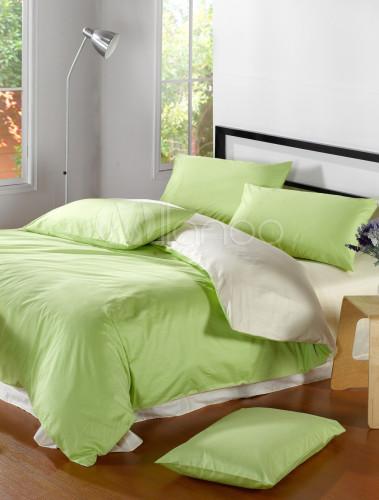 sommer frische stil gr n wei baumwolle bettw sche set. Black Bedroom Furniture Sets. Home Design Ideas