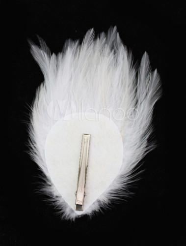 coiffure fleur de cheveux de mariage avec plume blanche. Black Bedroom Furniture Sets. Home Design Ideas