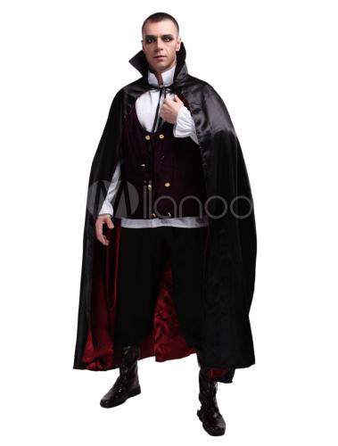 Traje de vampiro de Halloween para hombre Conde Drácula Traje Cosplay,No.4