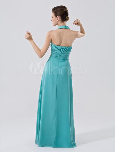 robe demoiselle d 39 honneur a ligne verte for t en chiffon et satin mat licou. Black Bedroom Furniture Sets. Home Design Ideas