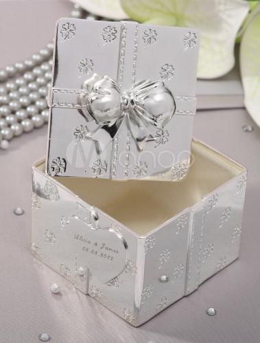 boite bijoux argente personnalis e de mariage. Black Bedroom Furniture Sets. Home Design Ideas