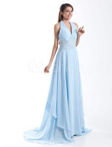 Robe de soiree bleu ciel la mode des robes de france for Robes de mariage bleu ciel