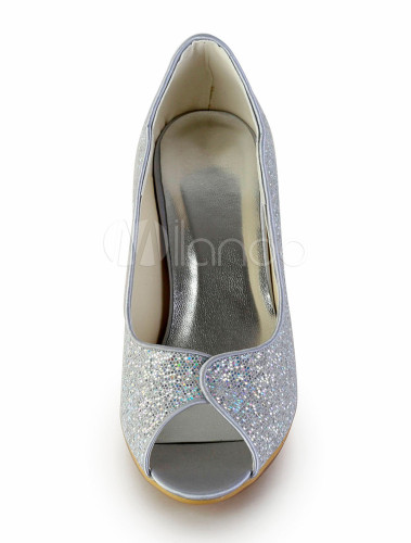 feine schuhe f r hochzeit mit stilettos in silber. Black Bedroom Furniture Sets. Home Design Ideas
