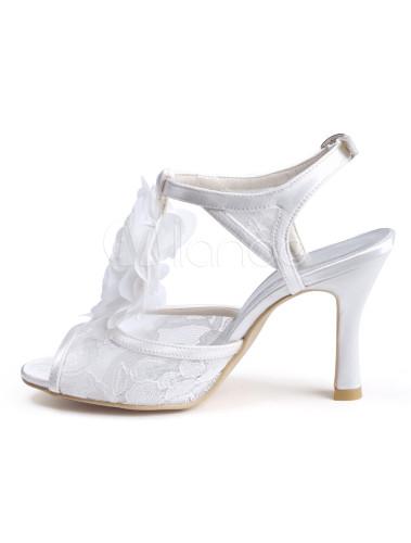 ecru blanc stiletto talon dentelle sexy fashion robe sandales. Black Bedroom Furniture Sets. Home Design Ideas