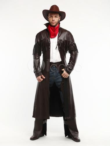 lustiges cowboy kost m f r halloween in braun. Black Bedroom Furniture Sets. Home Design Ideas