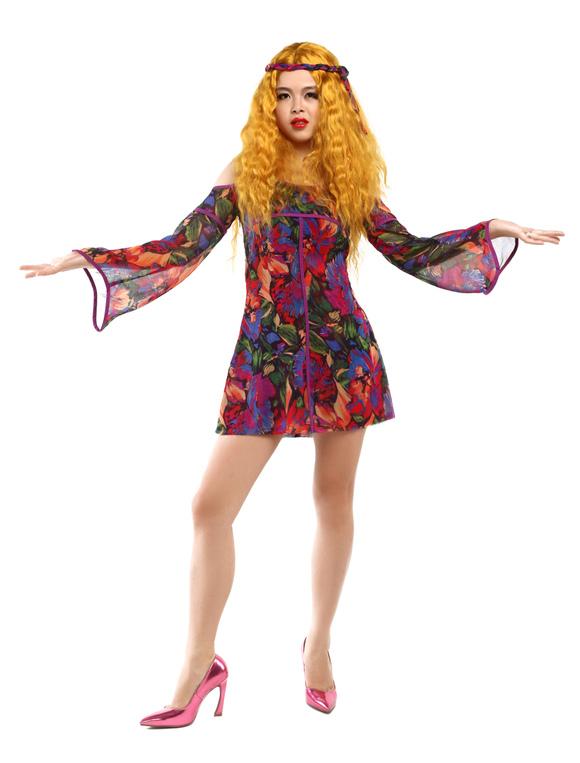 Vestido de multicolores para disfraces de hippie para - Ropa hippie moderna ...