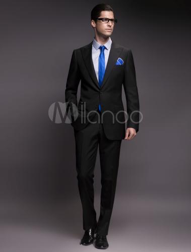 Matrimonio Uomo Nero : Abito da cerimonia uomo nero in lana milanoo