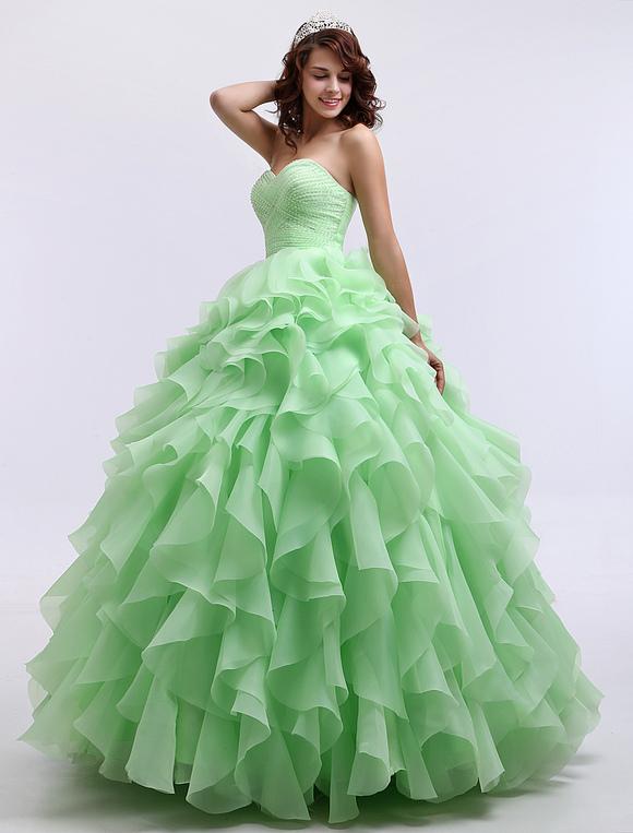 Vestidos De Baño Verde Menta:Vestidos Para Quinceanera De Color Verde Menta