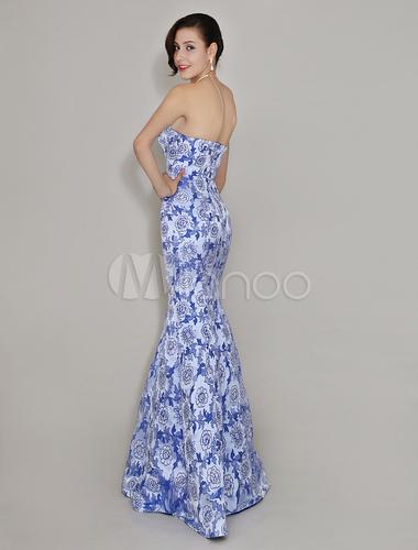 Abendkleid in hellblau - Milanoo abendkleider ...