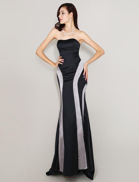 Abendkleid mit schleppe in schwarz - Milanoo abendkleider ...