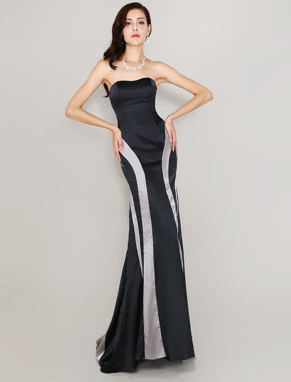 Abendkleid mit schleppe in schwarz for Milanoo abendkleider