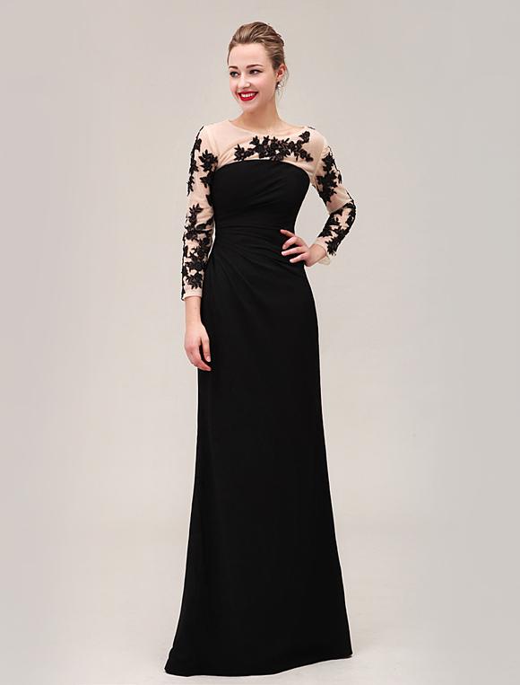 Abendkleid in schwarz for Milanoo abendkleider