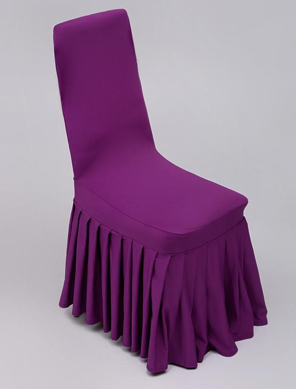 couverture de chaise pliss e en satin stretch. Black Bedroom Furniture Sets. Home Design Ideas