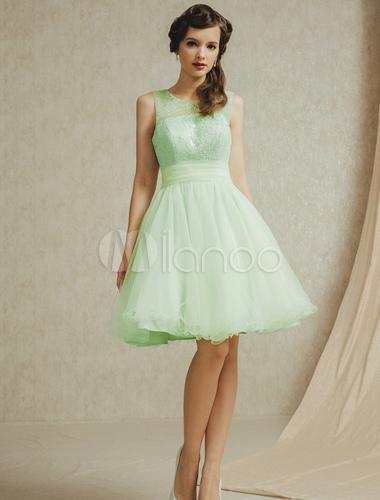 robe demoiselle d 39 honneur en tulle vert menthe avec dentelle. Black Bedroom Furniture Sets. Home Design Ideas