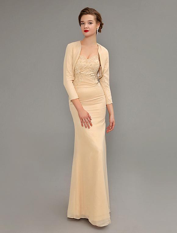 Abendkleid aus chiffon in champagnerfarbe for Milanoo abendkleider