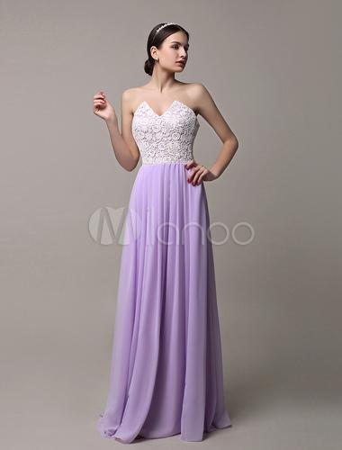 Robe demoiselle d 39 honneur en dentelle lavande bicolore for Meilleurs concepteurs de robe de mariage de plage