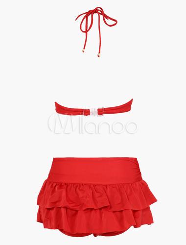 Traje De Baño Rojo Pelicula:Underwire sexy Bikini 3 piezas traje de baño – Milanoocom