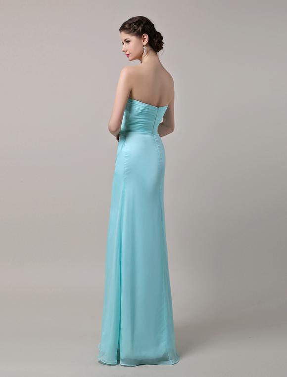 robe demoiselle d 39 honneur en mousseline de soie vert. Black Bedroom Furniture Sets. Home Design Ideas