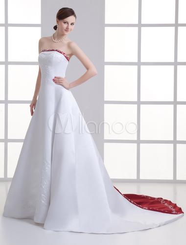 LILIANA Robe de marie coupe en A, manches longues et