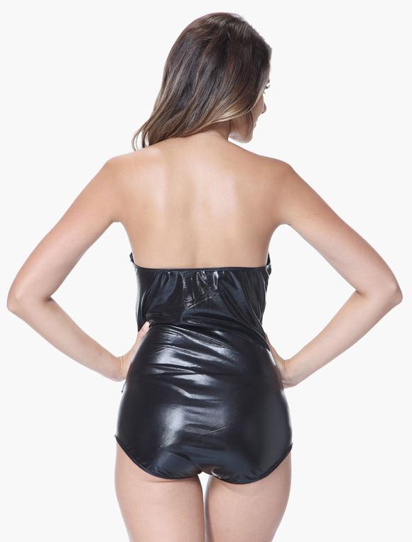 fascinante tenue de pole dance noir bustier sexy