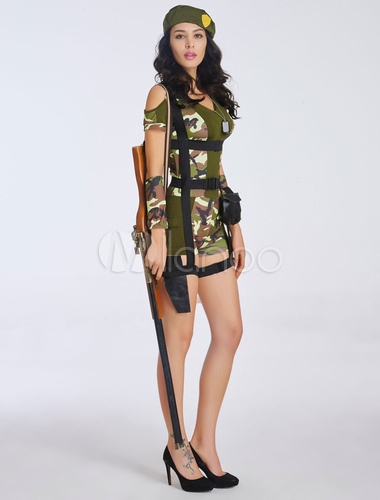 camouflage polyester bedroom costume for women