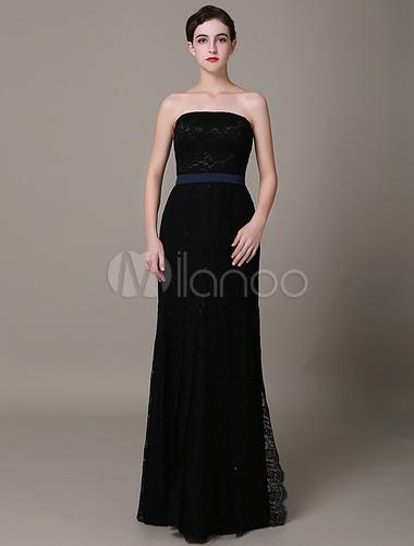 Schwarze spitze abendkleid tr gerlos bodenlangen mantel for Milanoo abendkleider
