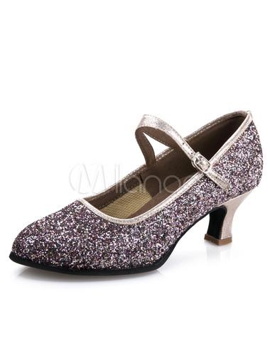 silber dance pumps riemchen glitter heels f r frauen. Black Bedroom Furniture Sets. Home Design Ideas