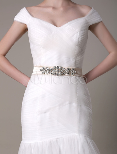 Robe de mariage ivoire chic fourreau tissu de satin avec for Hors des robes de mariage san francisco