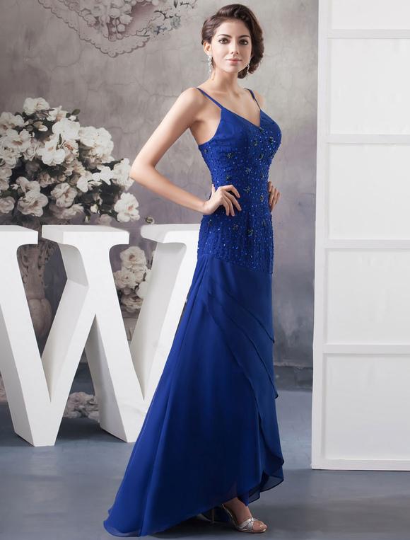 Blaue mutter der brautkleid mit wrap riemen mit r schen for Milanoo abendkleider