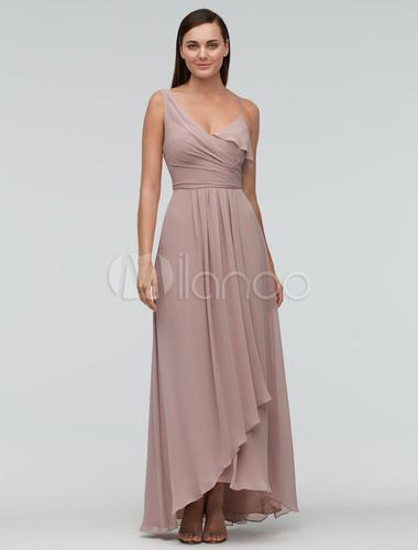 Fard joues de demoiselle d honneur robe maxi en for Robes de mariage maxi uk