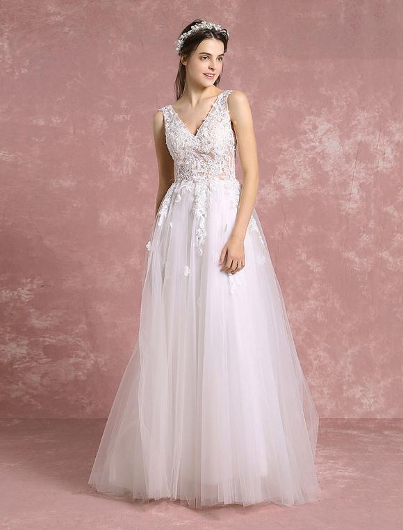 robe de mari e boh mienne tulle ivoire v cou perles