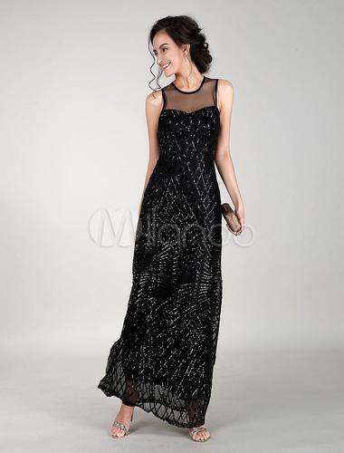 robes de soir e noire robe longue. Black Bedroom Furniture Sets. Home Design Ideas