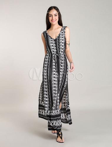 robe longue boheme robes d 39 t floral printed. Black Bedroom Furniture Sets. Home Design Ideas