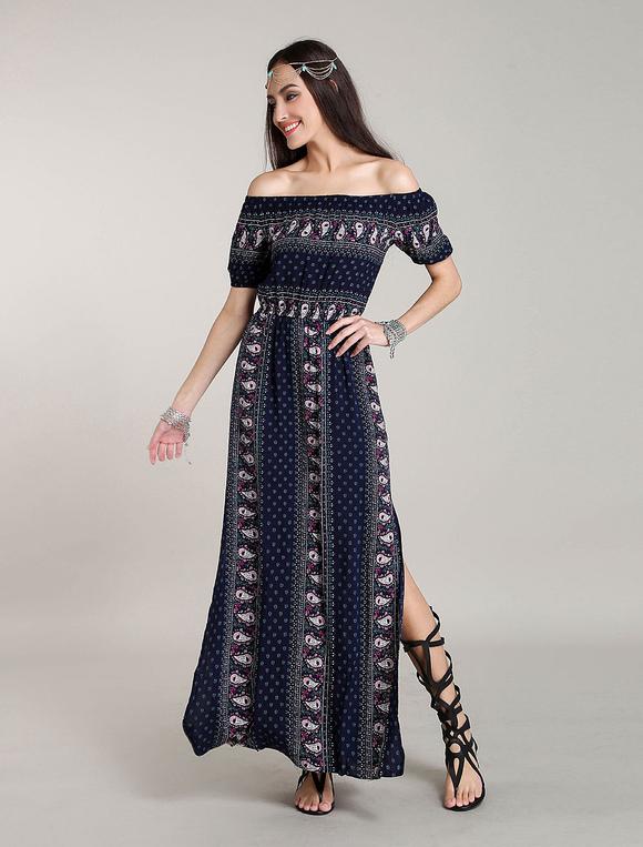 robe longue boheme robes bohemian robe d 39 t fleurie. Black Bedroom Furniture Sets. Home Design Ideas