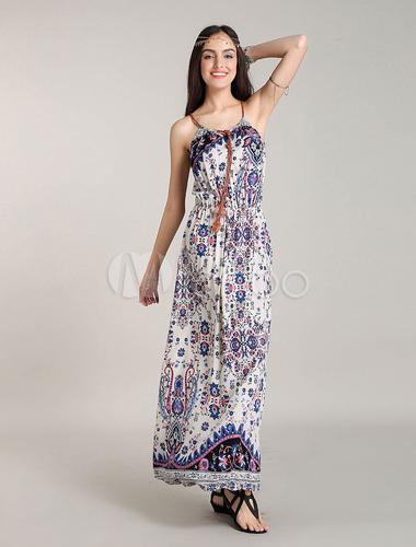 robe longue boheme robes bohemian blanche robe d 39 t. Black Bedroom Furniture Sets. Home Design Ideas
